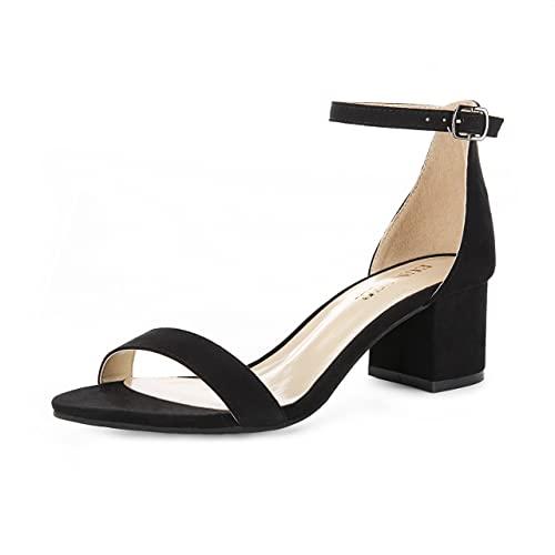 Black Heel Sandals: Amazon.c
