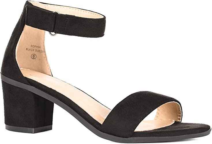 Amazon.com   Solemate Women's Ankle Strap Kitten Heel Sandal .