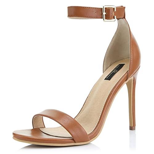 Tan Heels Sandals: Amazon.c
