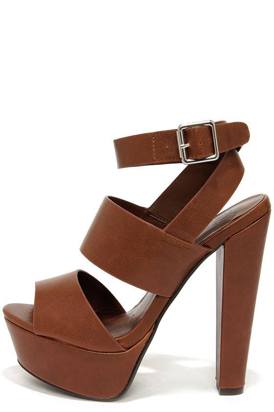 Cute Brown Shoes - Platform Sandals - Platform Heels - $29.