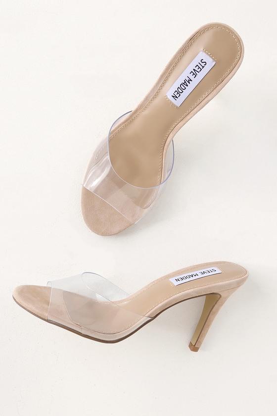 Erin Clear High Heel Sandals   Clear high heels, Heels, Strap hee