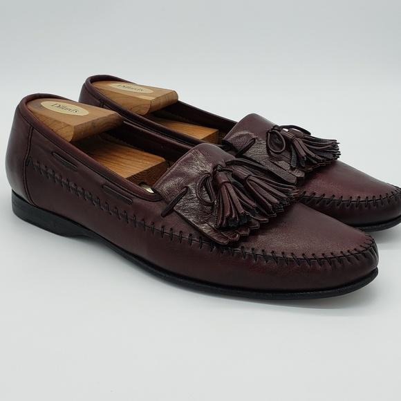 Santoni Shoes | Loafers Tassel Sz 95 Mens Brown | Poshma