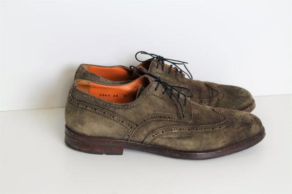 Brown mens Oxford shoes SANTONI Shoes Vintage Brown Suede | Et
