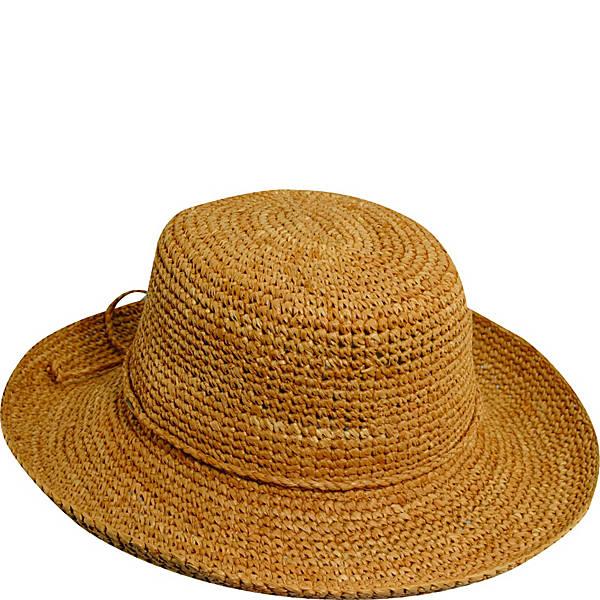 Scala Hats Dyed Crochet Raffia w/ Drawstring - eBags.c