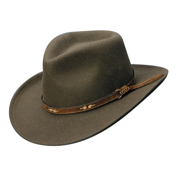Scala | Crushable Wool Outback Hat | Hats Unlimit