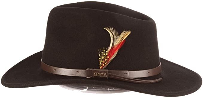 Scala Classico Men's Crushable Felt Outback Hat at Amazon Men's .
