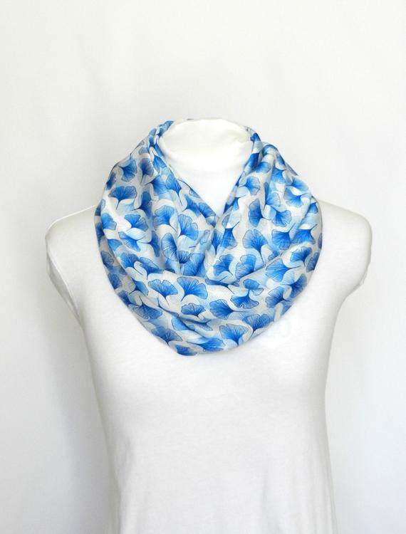 Infinity Scarf Women / Scarves For Women Blue Scarf / Gift For | Et
