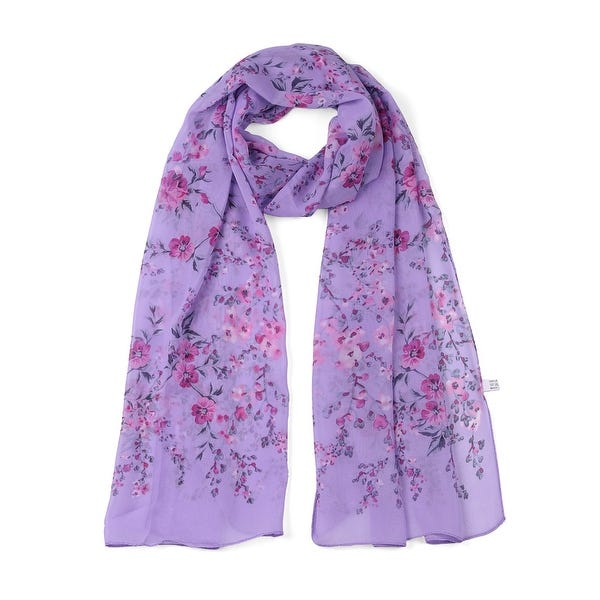 Shop Long Chiffon Beach Scarf Silk Scarves Floral Scarves for .