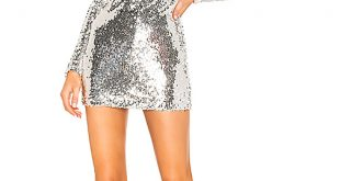 superdown Shayla Sequin Dress in Silver | REVOL