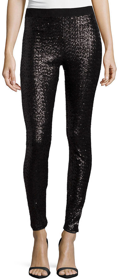 Bisou Bisou Sequin Leggings, $68 | jcpenney | Lookastic.c