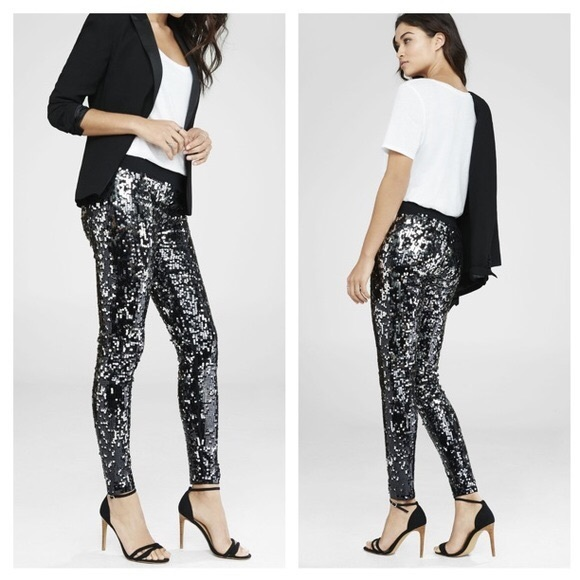 Express Pants | Sequin Leggings | Poshma