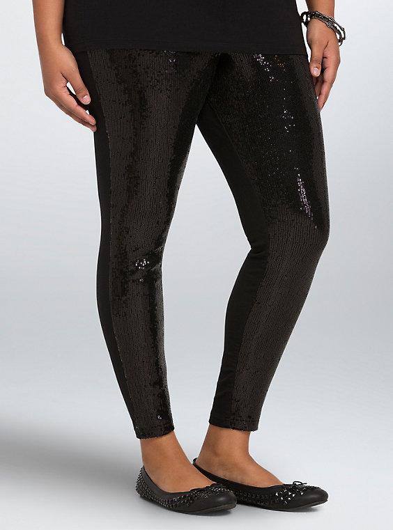 Plus Size - Sequin Leggings - Torr