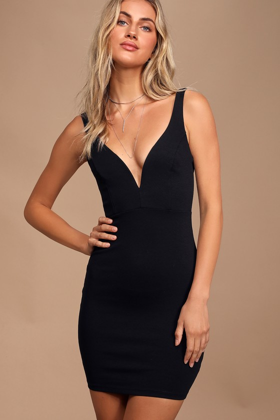 Sexy Black Dress - Bodycon Dress - LBD - Little Black Dre