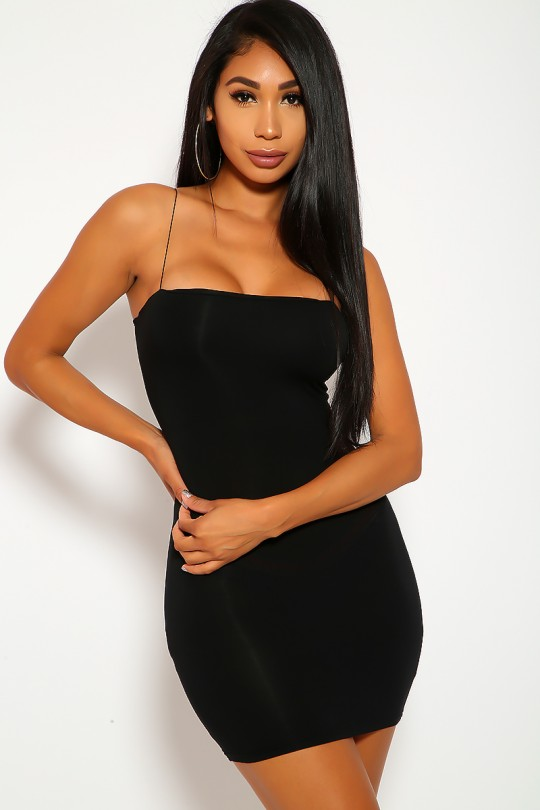 Sexy Black Sleeveless Bodycon Mini Club Party Dre