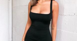 Sexy Black Mini Dress Summer Wide Straps Her Fashion Bodycon Dress .