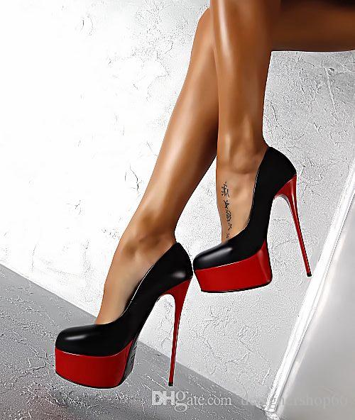 Sexy High Heels Shoes Woman Stiletto Heel Platform Shoes Mixed .