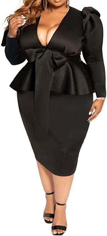 Amazon.com: lexiart Plus Size Dress for Women - Sexy Loose .