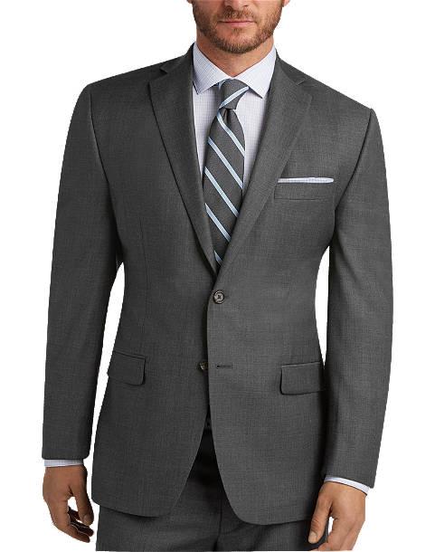 Gray Sharkskin Suit - Men's Suits - Lauren by Ralph Lauren   Men's .