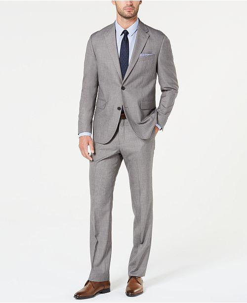 Dockers Men's Modern-Fit Light Gray Sharkskin Suit & Reviews .