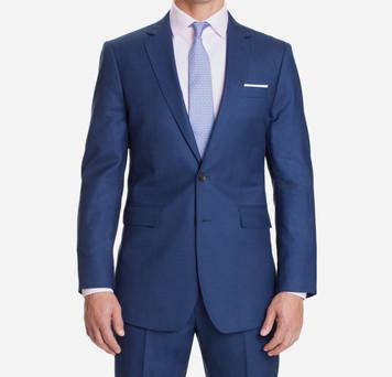 Royal Blue Sharkskin Suit   Alton La