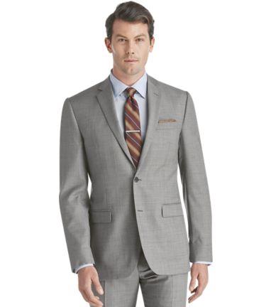 Traveler Collection Regal Fit Sharkskin Suit Separate Jacket .
