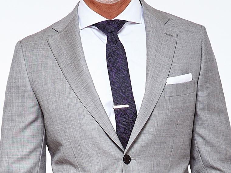 Premium Silver Gray Sharkskin Su