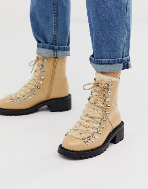 ASOS DESIGN Amsterdam shearling hiker boots | AS