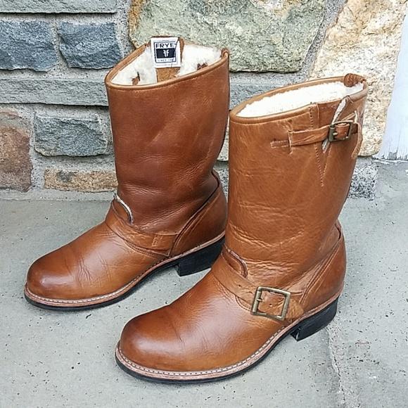 Frye Shoes | Engineer 12r Shearling Boots | Poshma