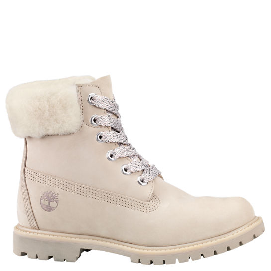 Women's 6-Inch Shearling Collar Waterproof Boots | Timberland US Sto