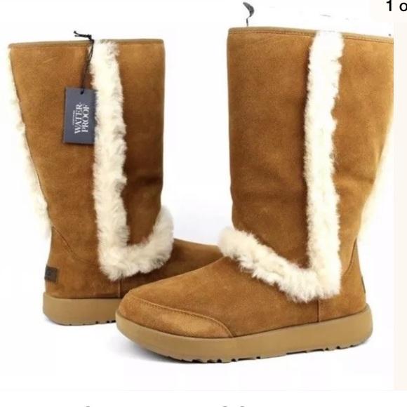 UGG Shoes | Sundance Waterproof Chestnut Sheepskin Boots | Poshma