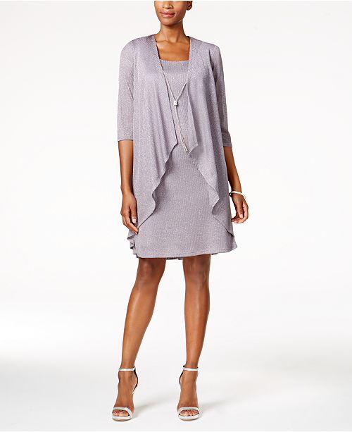 R & M Richards Shift Dress and Draped Jacket & Reviews - Dresses .