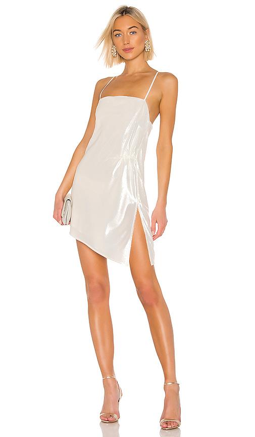 Michelle Mason Mini Shift Dress in Ivory | REVOL