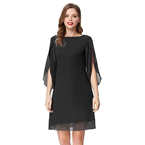 Black Shift Dress with Sleeves: Amazon.c