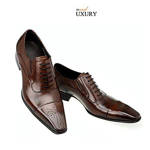 men dress shoes wedding business vintage Carved Designer black .