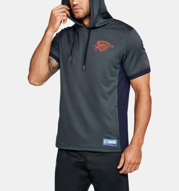 Men's NBA Combine UA Baseline Short Sleeve Hoodie | Under Armour .