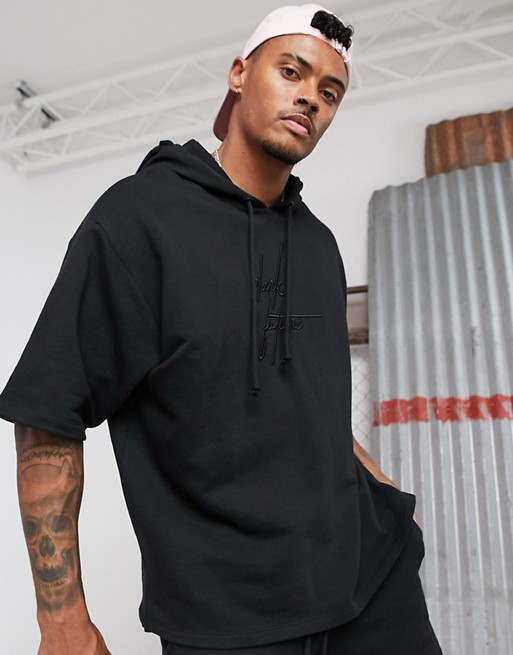 ASOS DESIGN x Dark Future two-piece oversized short sleeve hoodie .
