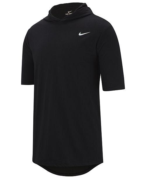 Nike Men's Dri-FIT Short-Sleeve Hoodie & Reviews - Hoodies .