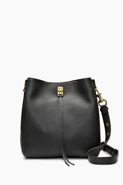 Black Darren Shoulder Bag | Rebecca Minko