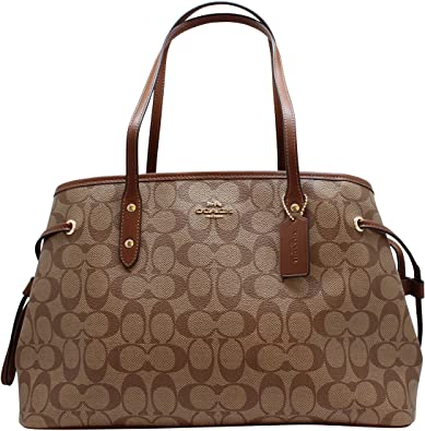 Amazon.com: Coach Women's Hand shoulder bag F57842 Khaki /Brown: Sho