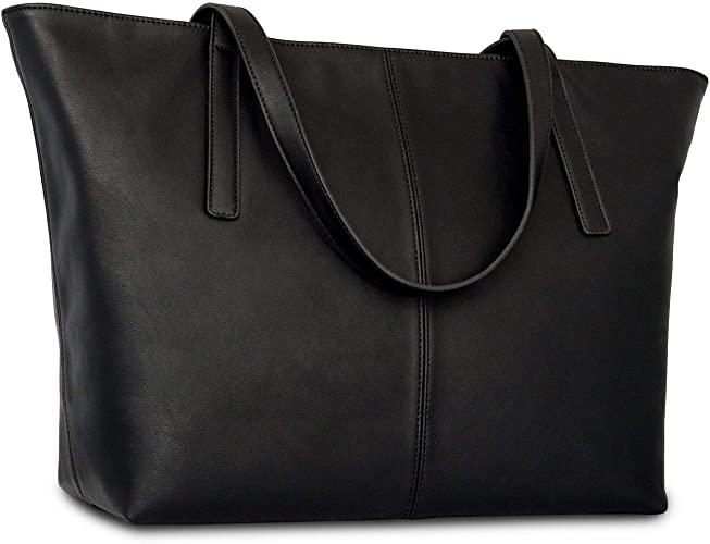 Amazon.com: Handbag Shopper Tote Bag Women Black - Expatrié - Big .