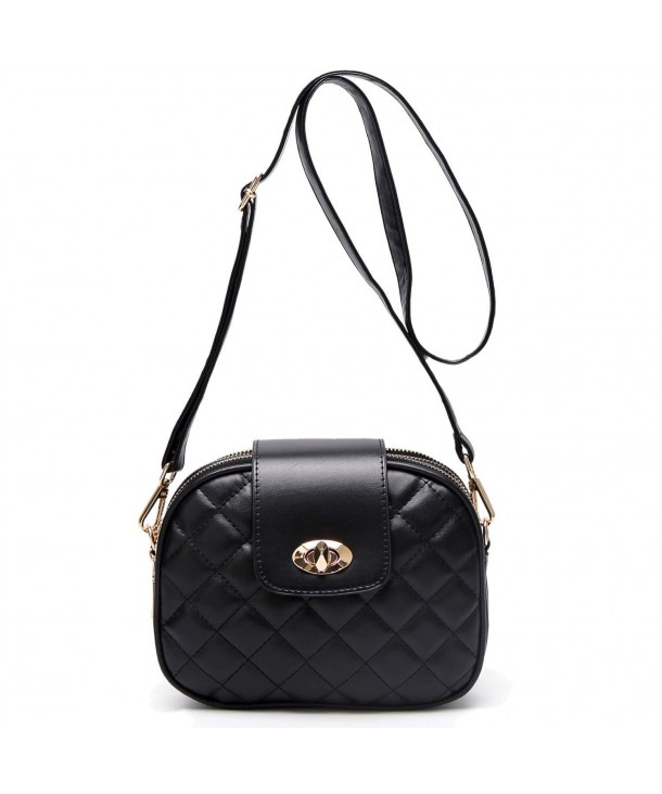 Small Crossbody Bag for Women Triple Zip Pocket Shoulder Bags .