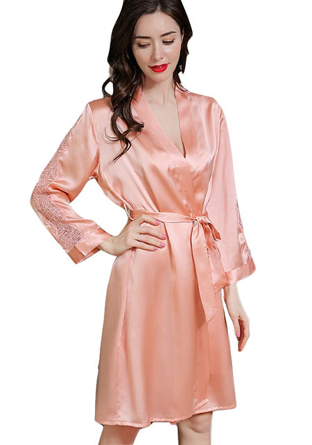 OEM Private Label 100% Real Silk Robes Women's Two-Pieces Luxury .