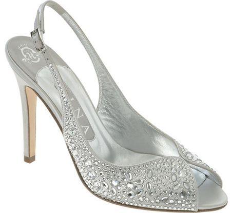 unique silver bridesmaid shoes   Silver wedding sho