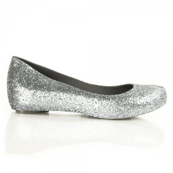 Silver flat shoes – Shoes onli