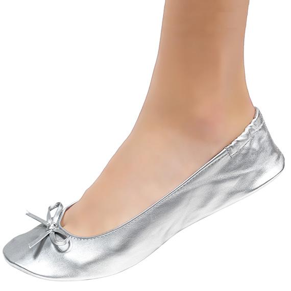 Wedding Ballet Flats Silver | Cinderollies Bridal Fla