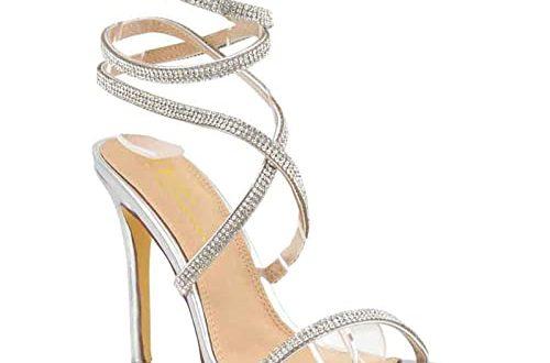 Silver Strappy Heels: Amazon.c