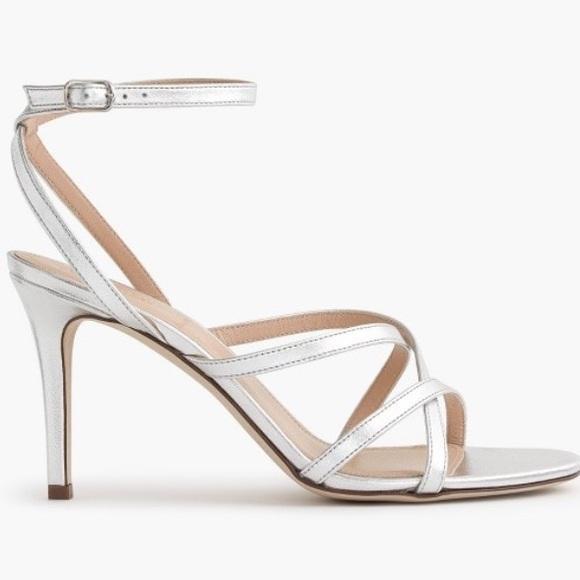 J. Crew Shoes | J Crew Silver Strappy Sandals | Poshma