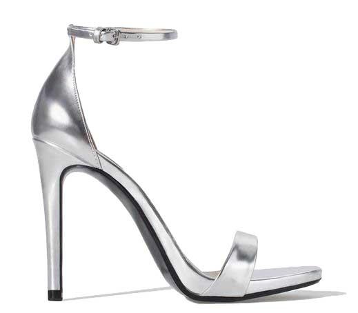 Zara silver strappy high heel sandals > Shoeperwom