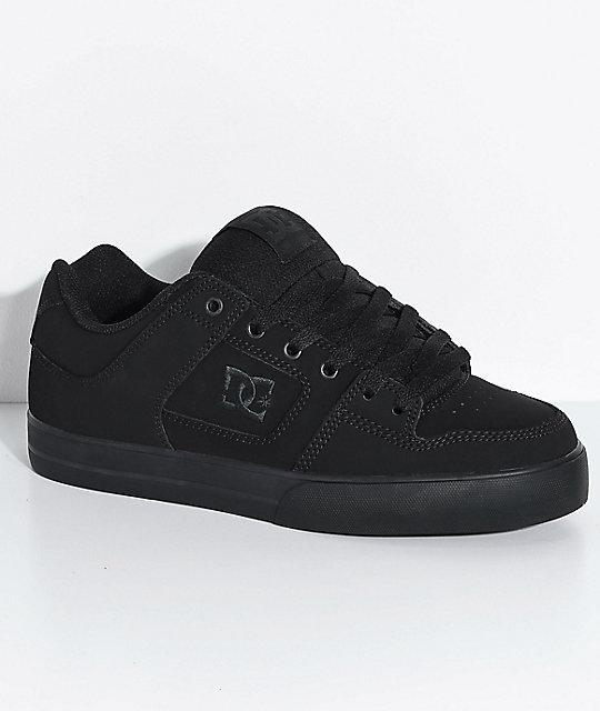 DC Pure Black & Pirate Black Skate Shoes   Zumi