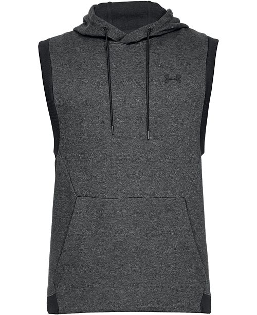 Under Armour Men's Unstoppable Double Knit Sleeveless Hoodie .